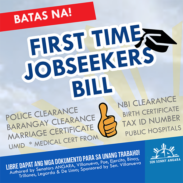 ANGARA LAUDS SIGNING OF FIRST-TIME JOBSEEKERS ACT   Alagang