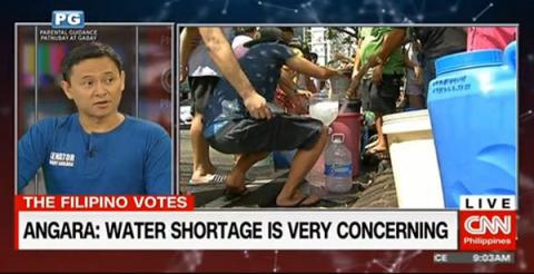 Sonny Angara: Water shortage is concerning