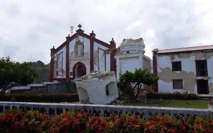 Itbayat Church and its bell tower were damaged following a magnitude 5.4 earthquake that hit Batanes province on Saturday morning (July 27, 2019) Philippine Institute of Volcanology and Seismology warned residents against aftershocks. (Photos courtesy of Batanes LGU)