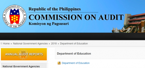 COA Report on the DepEd
