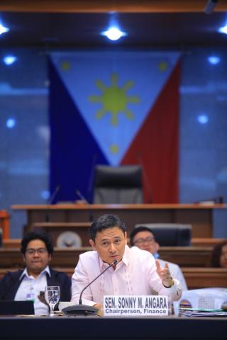 Senator Sonny Angara holds the first hearing on Tatak Pinoy comprehensive review of the country's industrialization and employment generation
