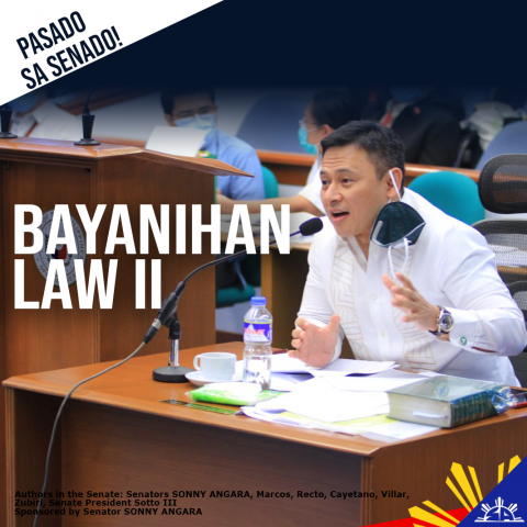 Senate responds to President Duterte's Call to Pass Bayanihan 2-- Angara