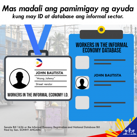 Angara pushes for the registration and database of informal workers
