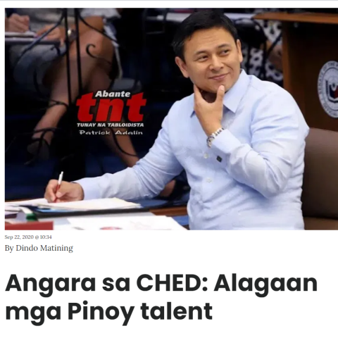 Senator Sonny Angara said today that it is about time the government focuses on keeping Filipino talent here in the country instead of constantly losing them to overseas headhunters.
