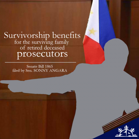 Angara pushes for survivorship benefits for members of the National Prosecution Service