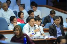 Senator Sonny Angara defending Senate Bill 2233 which raises the excise tax on tobacco products