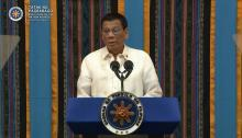 President Rodrigo Roa Duterte delivers his 4th SONA