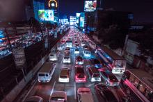 EDSA traffic. Photo by Mark Pimentel.
